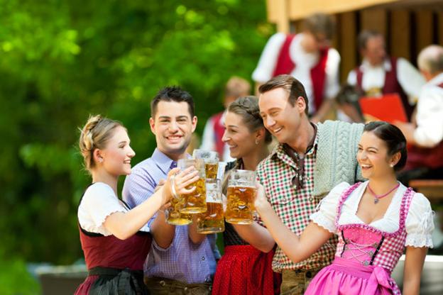 Oktoberfest celebration before the Coronavirus pandemic