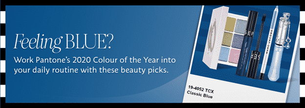 Sephora's 2020 Pantone Color of the Year cosmetic ad