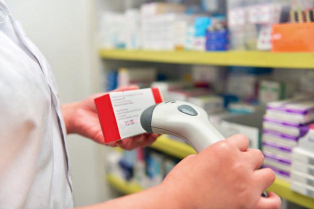 Scanning a drug barcode