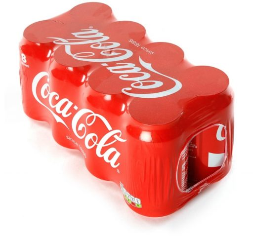 Shrink-Wrapped Coca-Cola Cans
