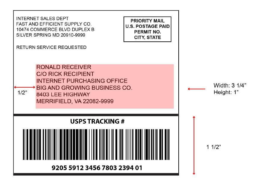 """The 4"""" x 4"""" Shipping Label"""