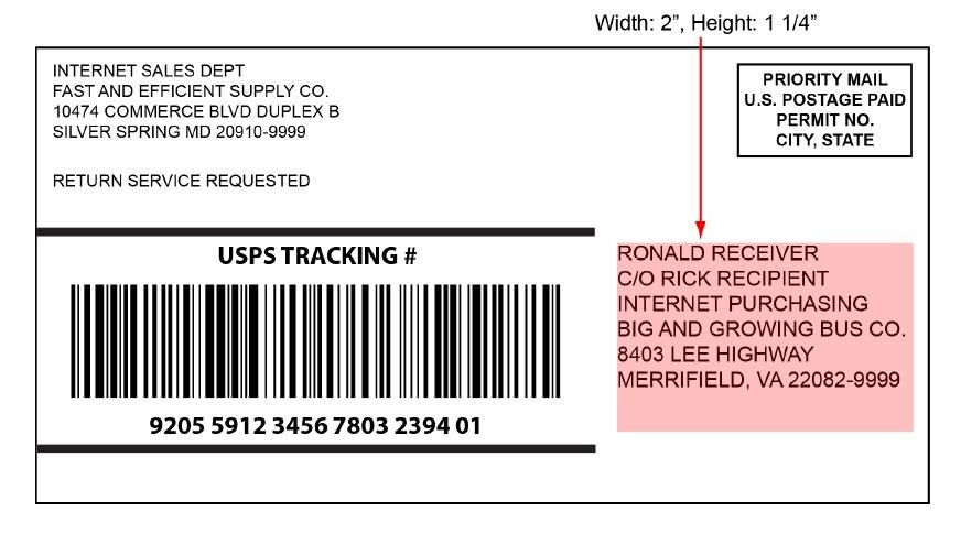 """The 6"""" x 3"""" Shipping Label"""