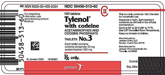 The Barcoded Label of Tylenol with Codeine Source: Drugs.com