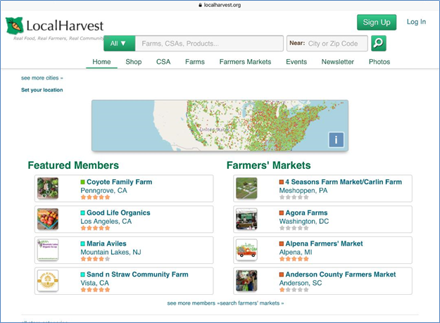 Local Harvest website