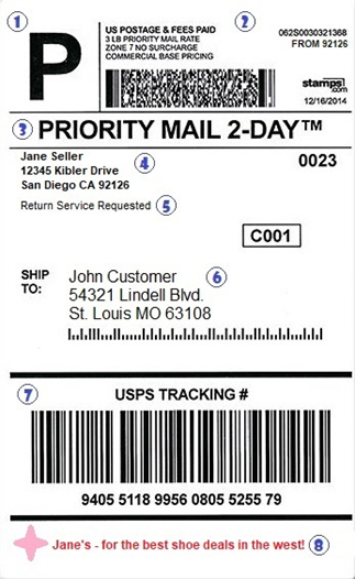 What Information is On a Shipping Label