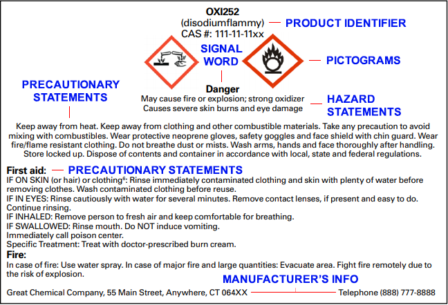 OSHA chemical label