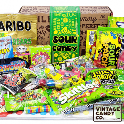 different colorful candy packaging approximates food taste