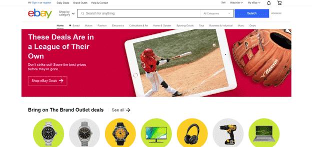 eBay-homepage