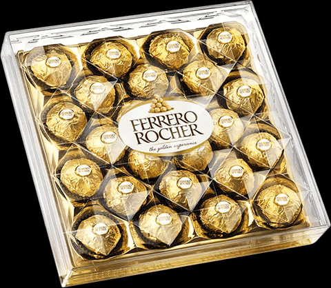 ferrero rocher stunning packaging in a transparent front