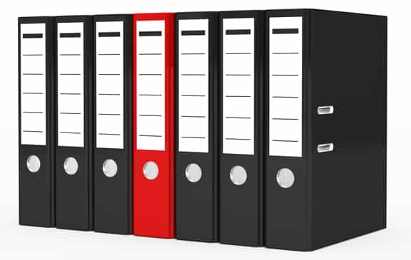 red-file-surrounded-by-black-files