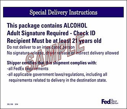 fedex special delivery instructions